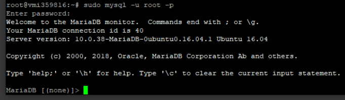 MariaDB Installed
