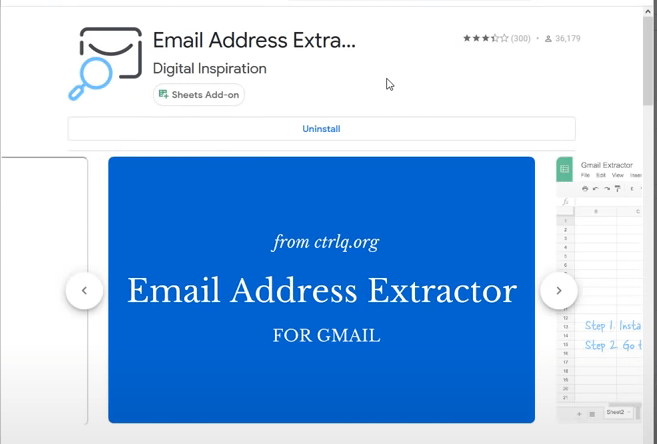 email extractor in google sheets